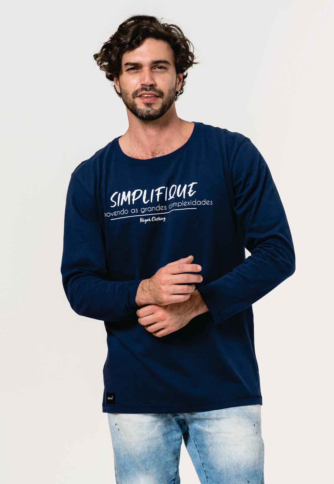 Camiseta Nogah Simplifique Marinho