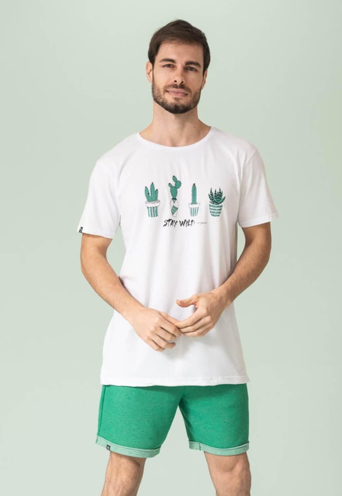 Camiseta Nogah Stay Wild Branca