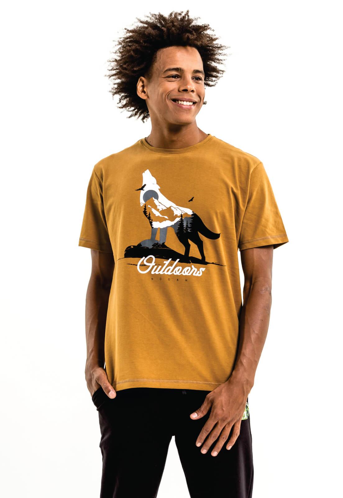 Camiseta Nogah Wolf Winter Caramelo