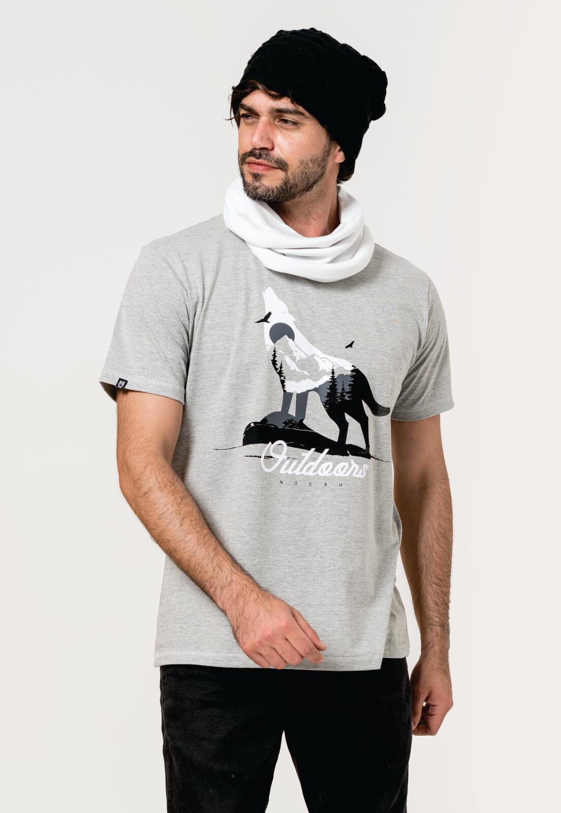Camiseta Nogah Wolf Winter Mescla