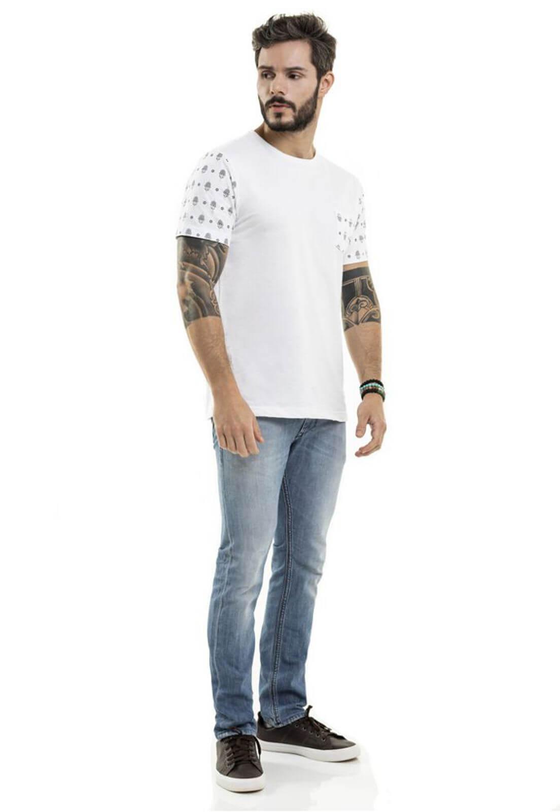 Camiseta Pocket Hamsa Branca