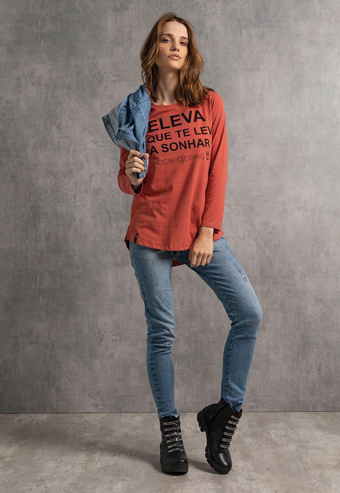 T-shirt Nogah Eleva Oversized Terra