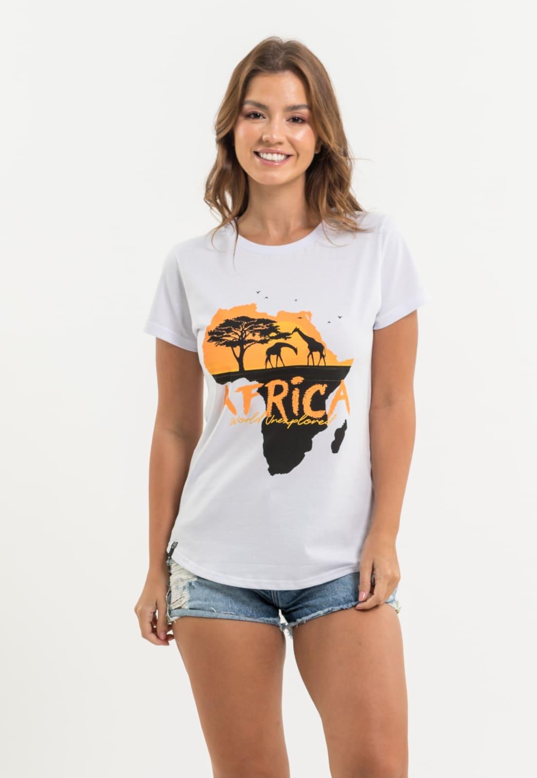 T-shirt Nogah African Map Branca