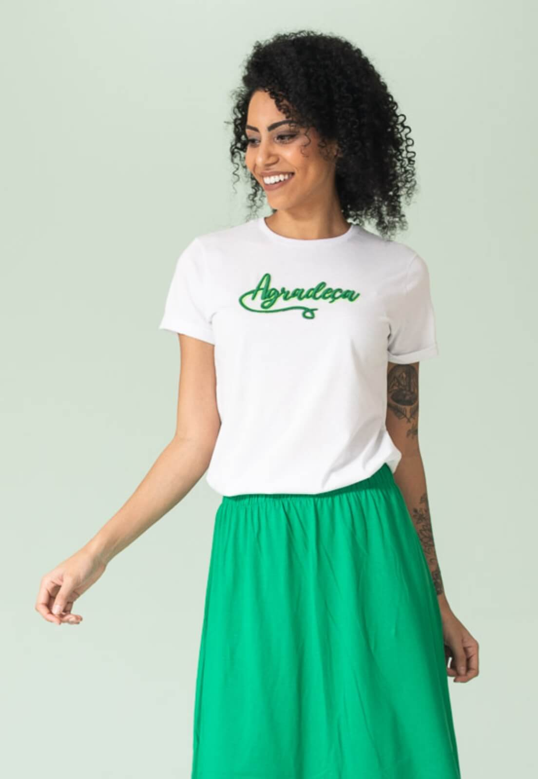 T-shirt Nogah Agradeça Branca