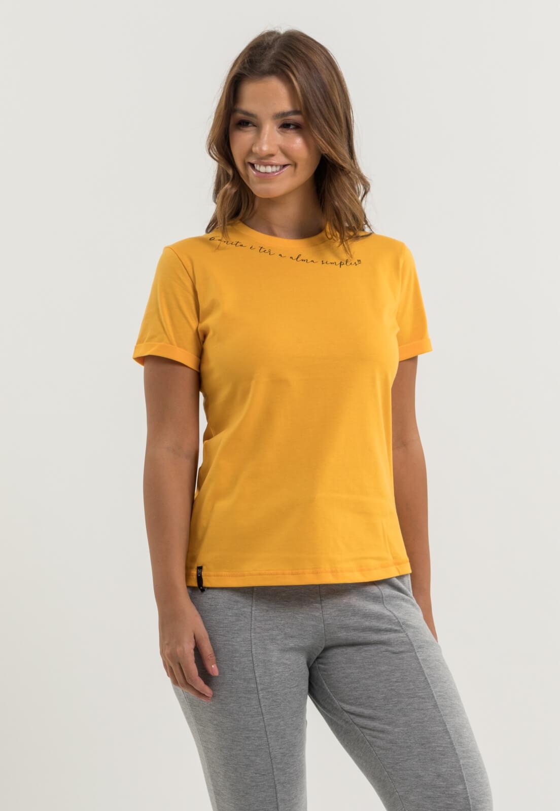 T-shirt Nogah Alma Simples Ouro