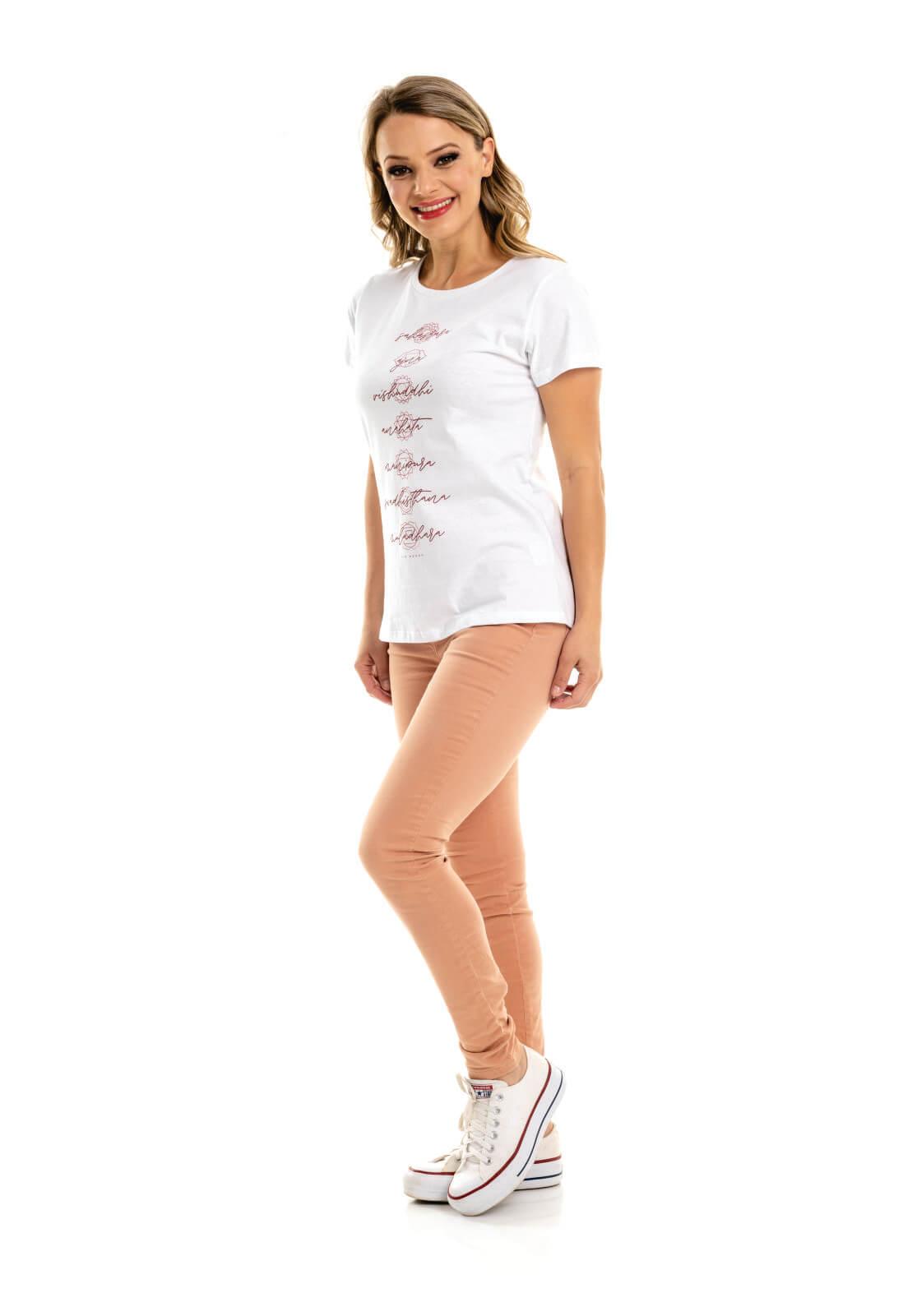 T-Shirt Nogah Chakras Branca