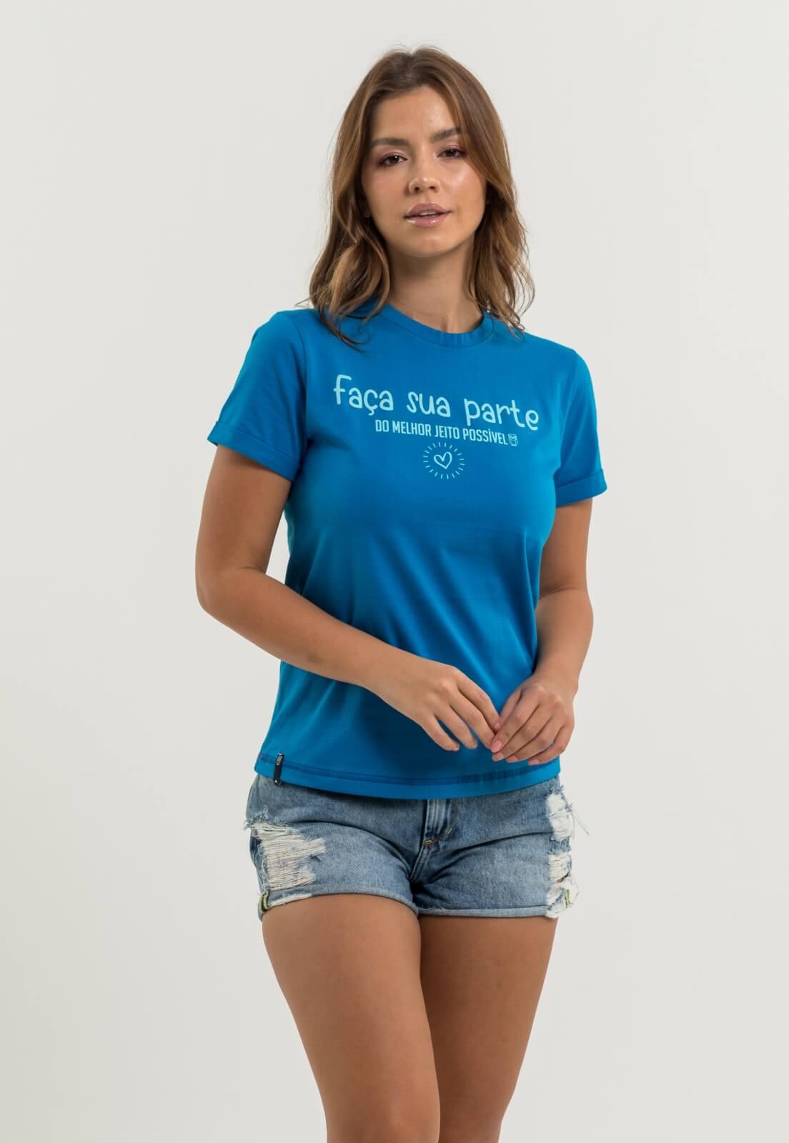 T-shirt Nogah Faça Sua Parte Turquesa