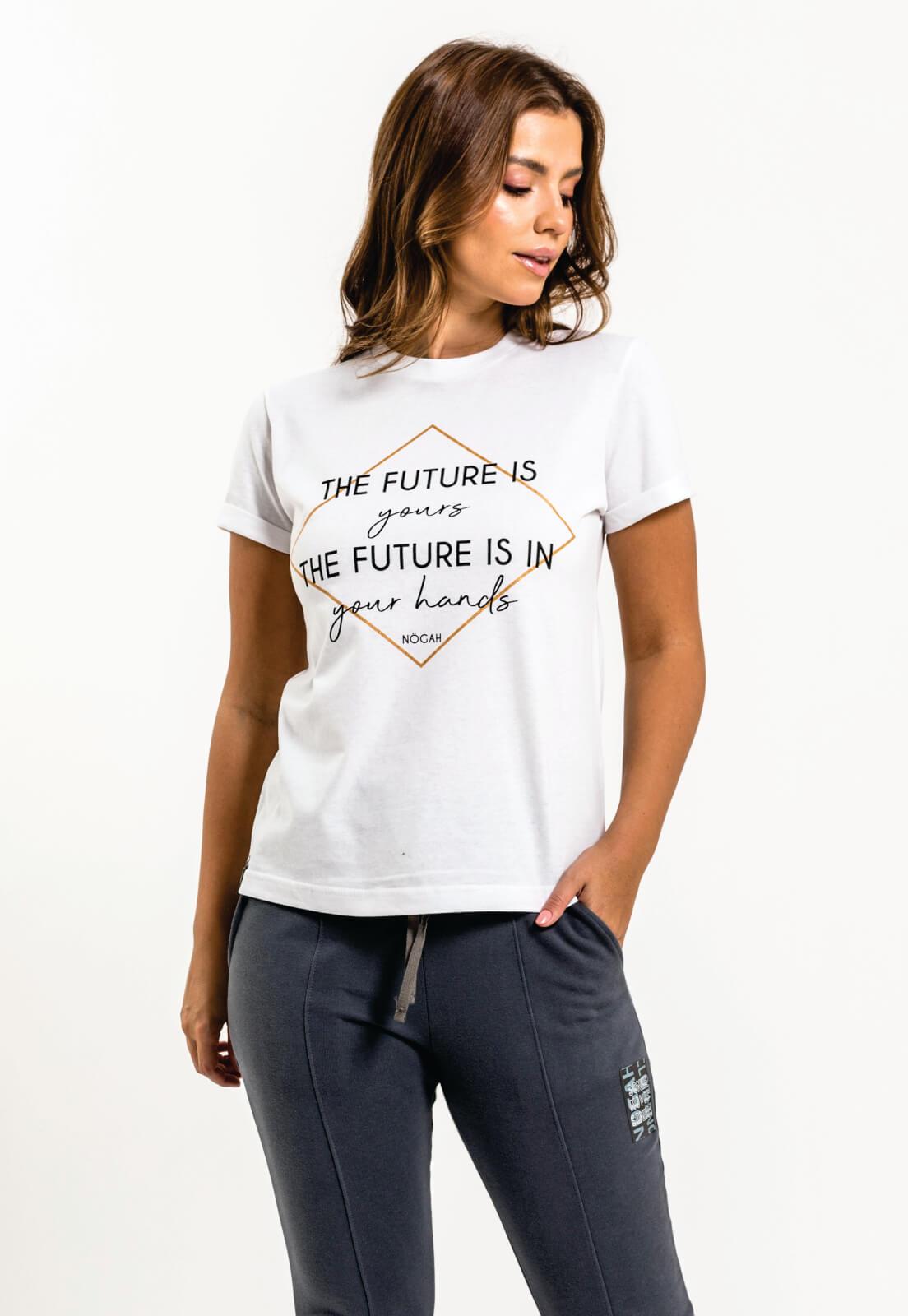 T-shirt Nogah Future Branca