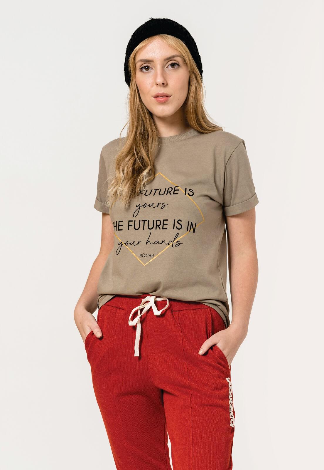 T-shirt Nogah Future Caqui
