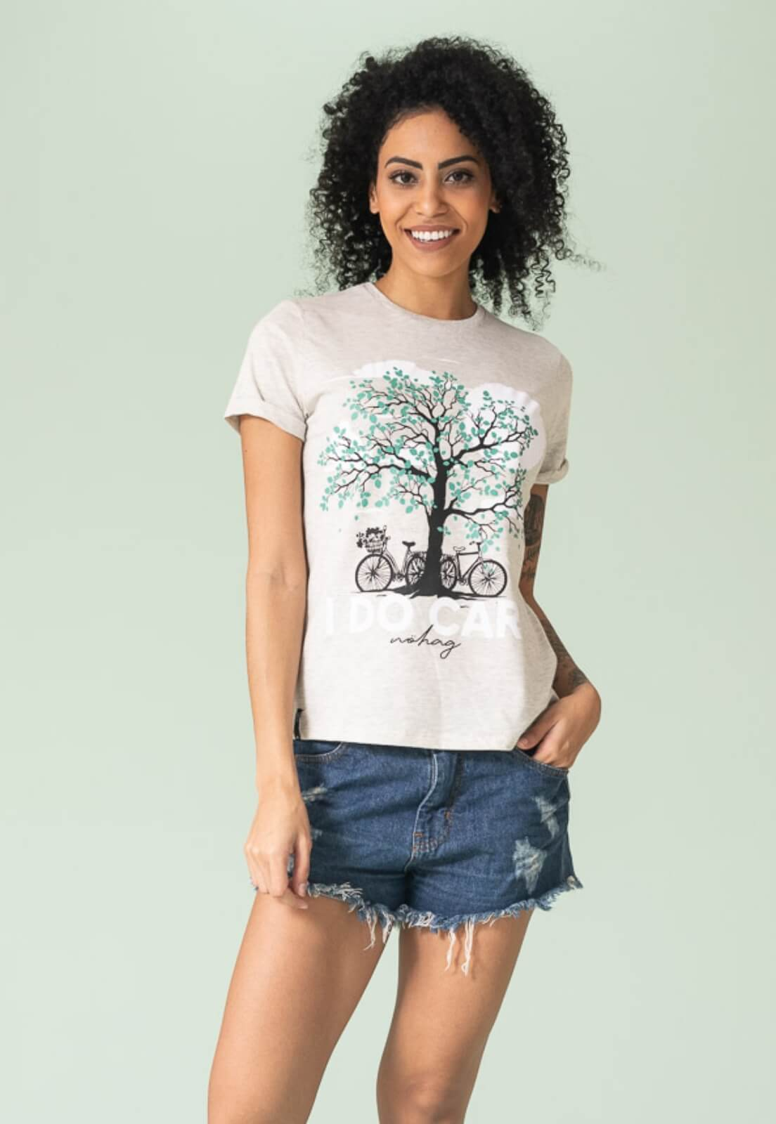 T-shirt Nogah I Do Care Mescla