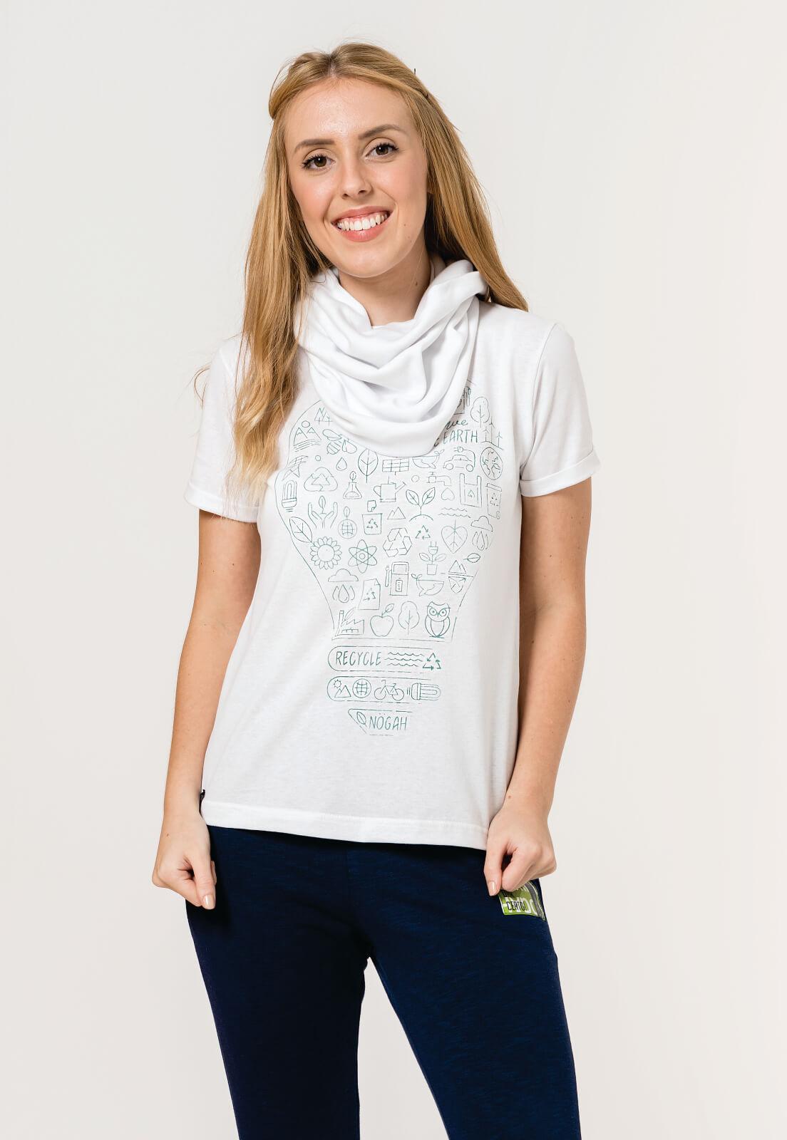 T-shirt Nogah Lâmpada Branca