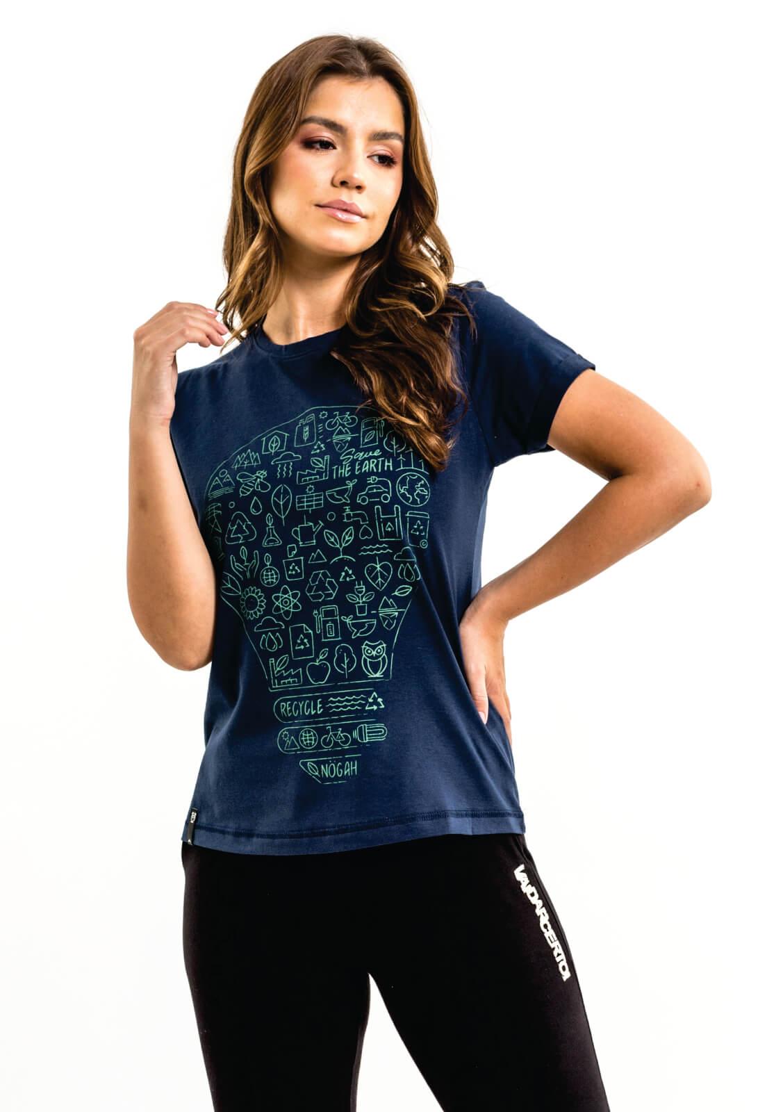 T-shirt Nogah Lâmpada Marinho