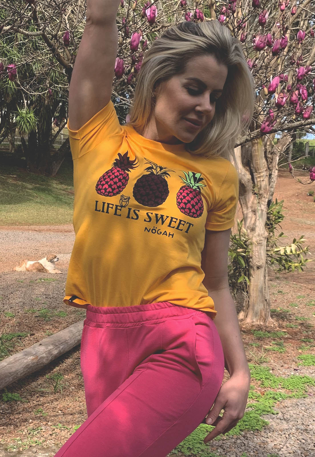 T-shirt Nogah Life is Sweet Ouro