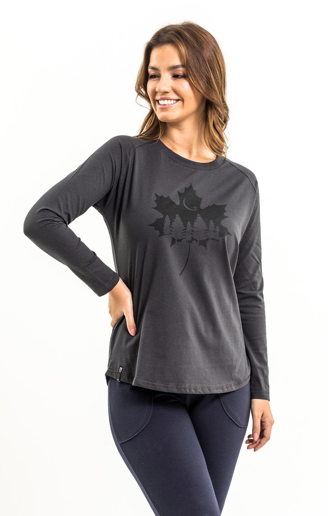 T-shirt Nogah Maple Leaf Oversized Chumbo