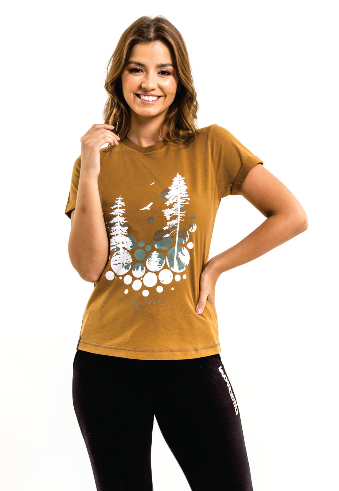 T-shirt Nogah Neve Caramelo