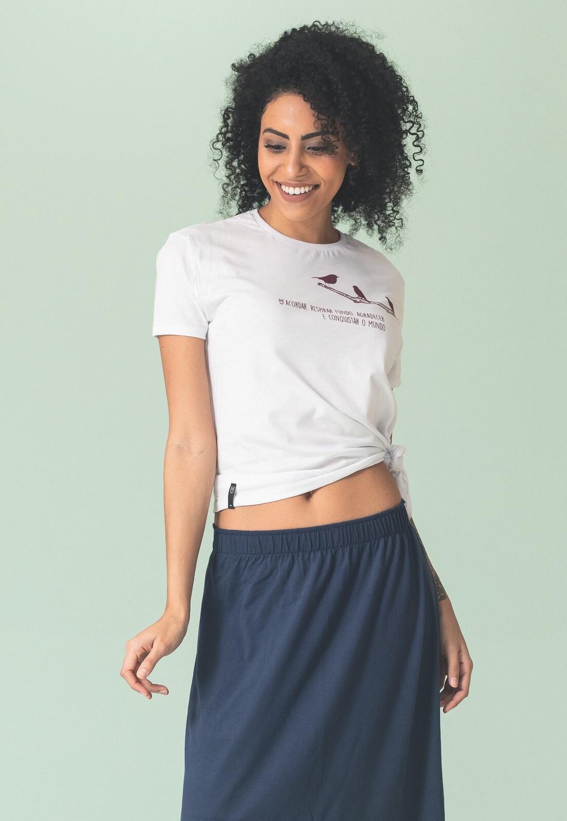 T-shirt Nogah Respirar Fundo Branca