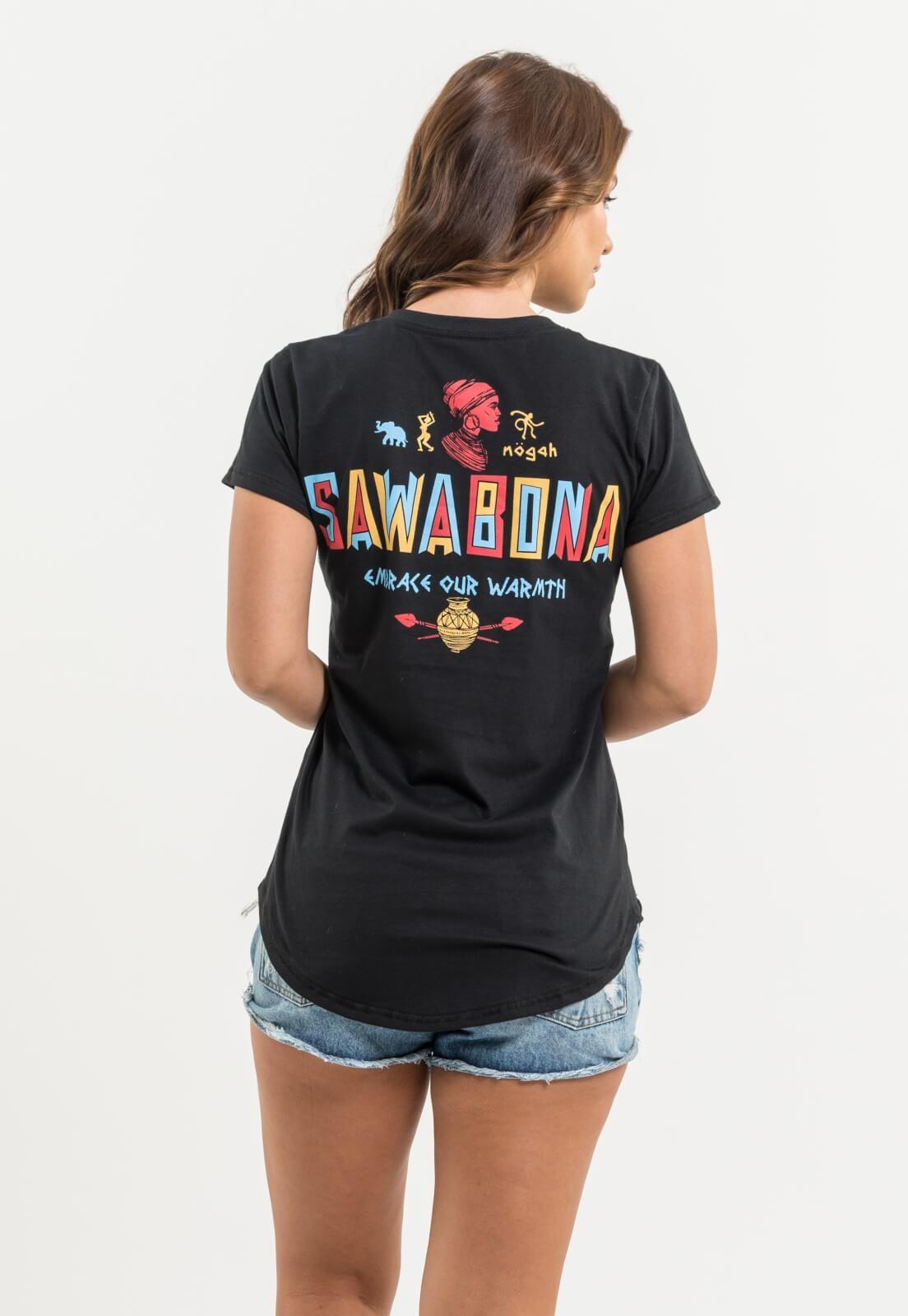T-shirt Nogah Sawabona Preta