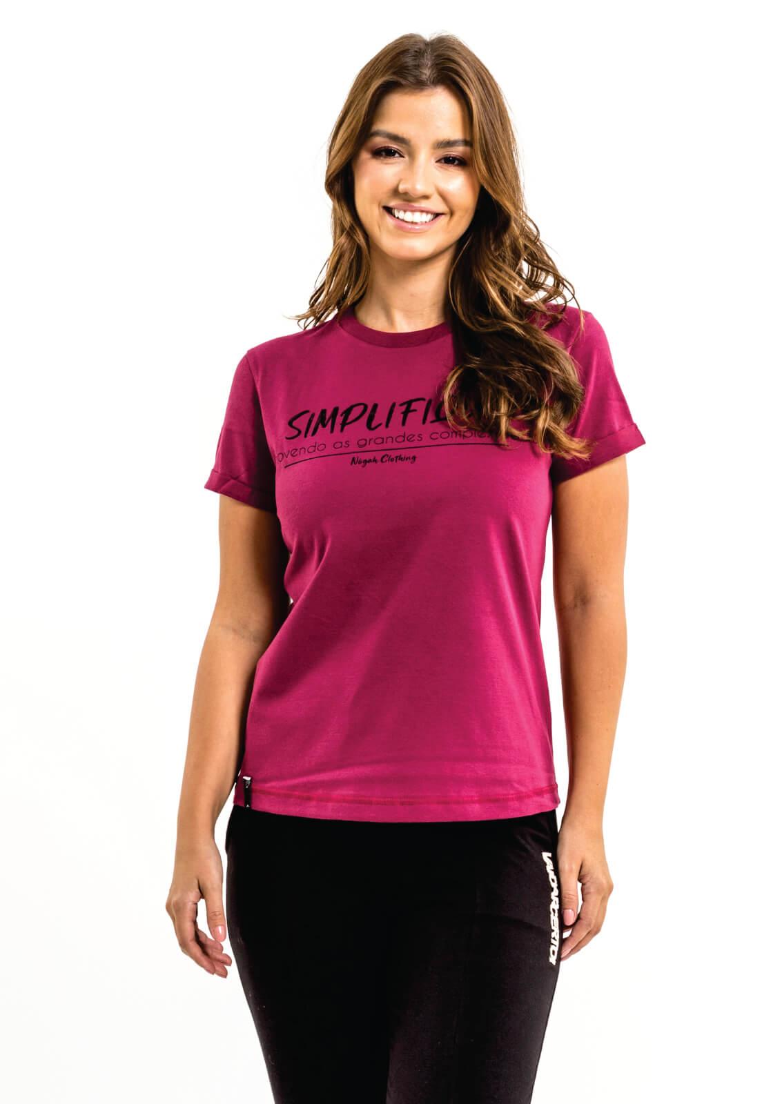 T-shirt Nogah Simplifique Bordô