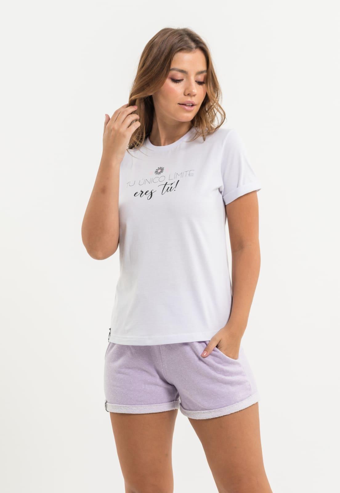 T-shirt Nogah Tu Único Limite Branca