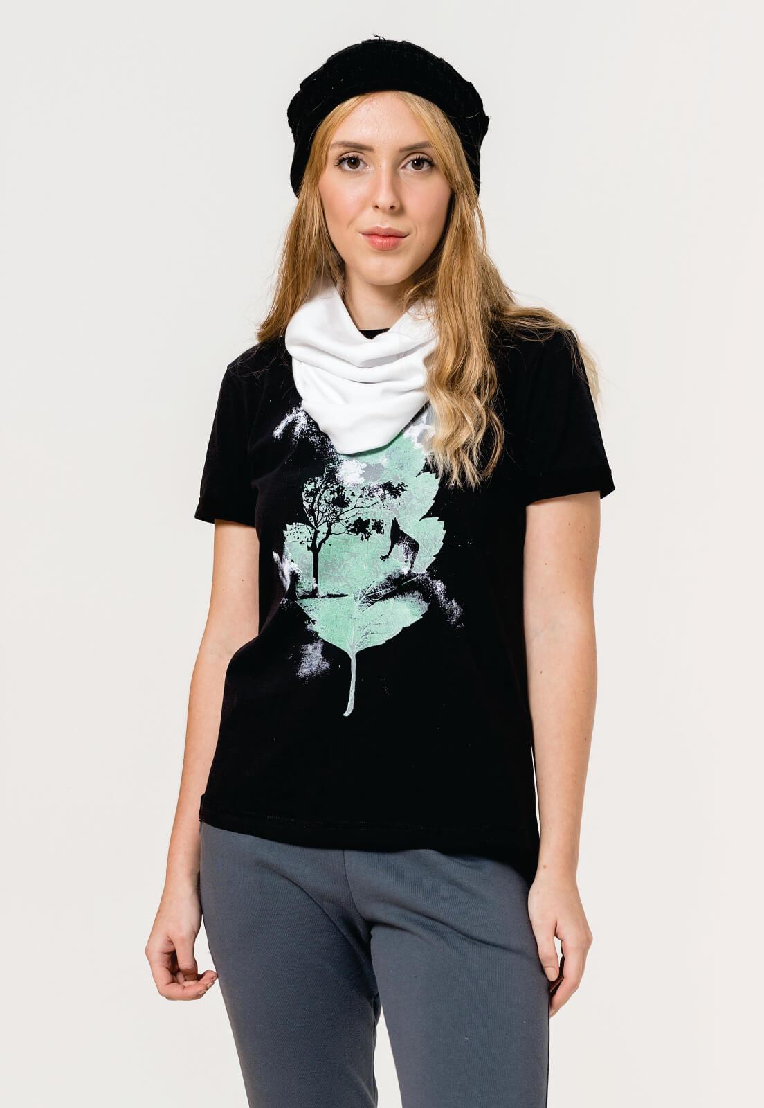 T-shirt  Nogah Winter Leaf Preta