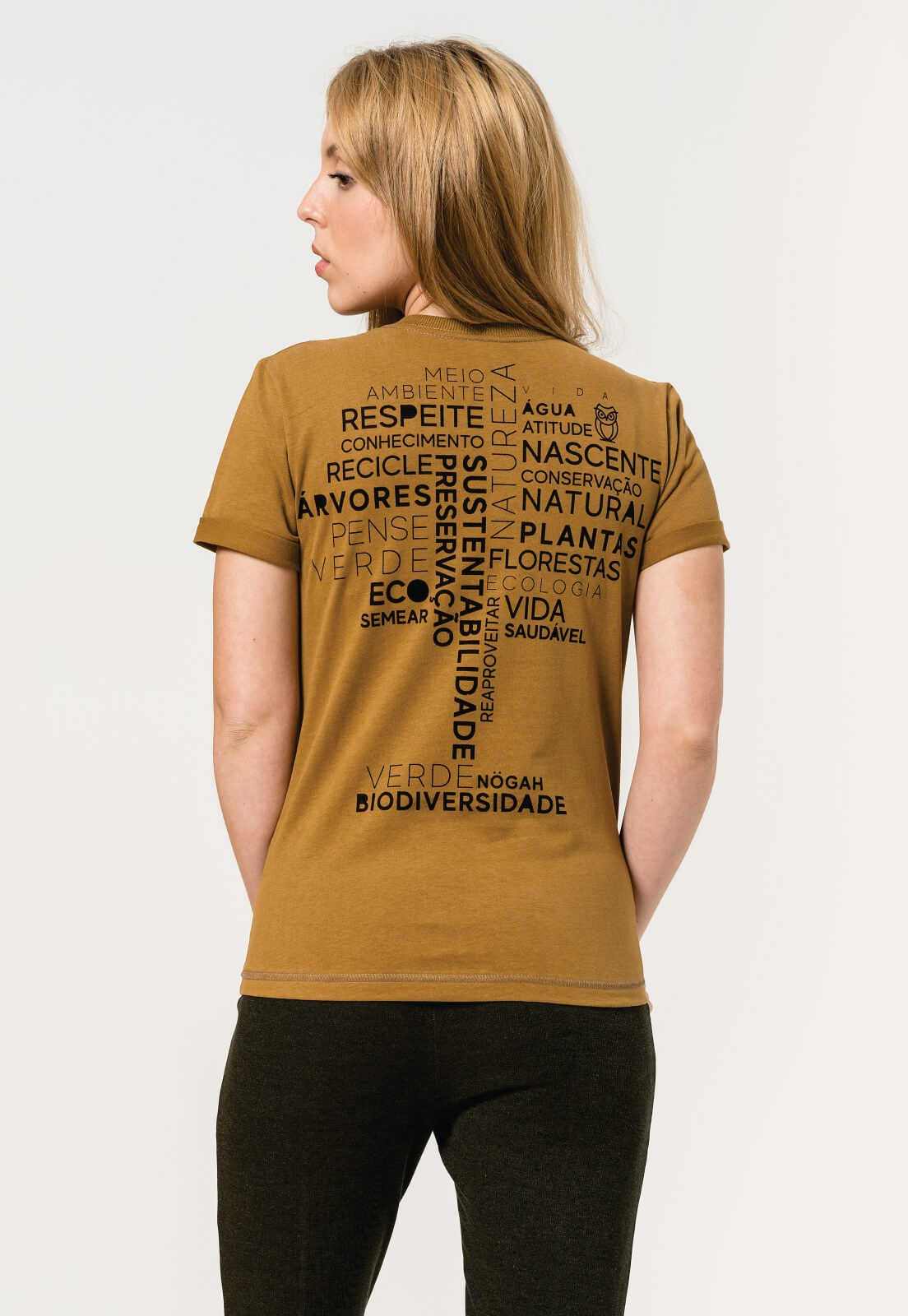 T-shirt Nogah Word Tree Caramelo