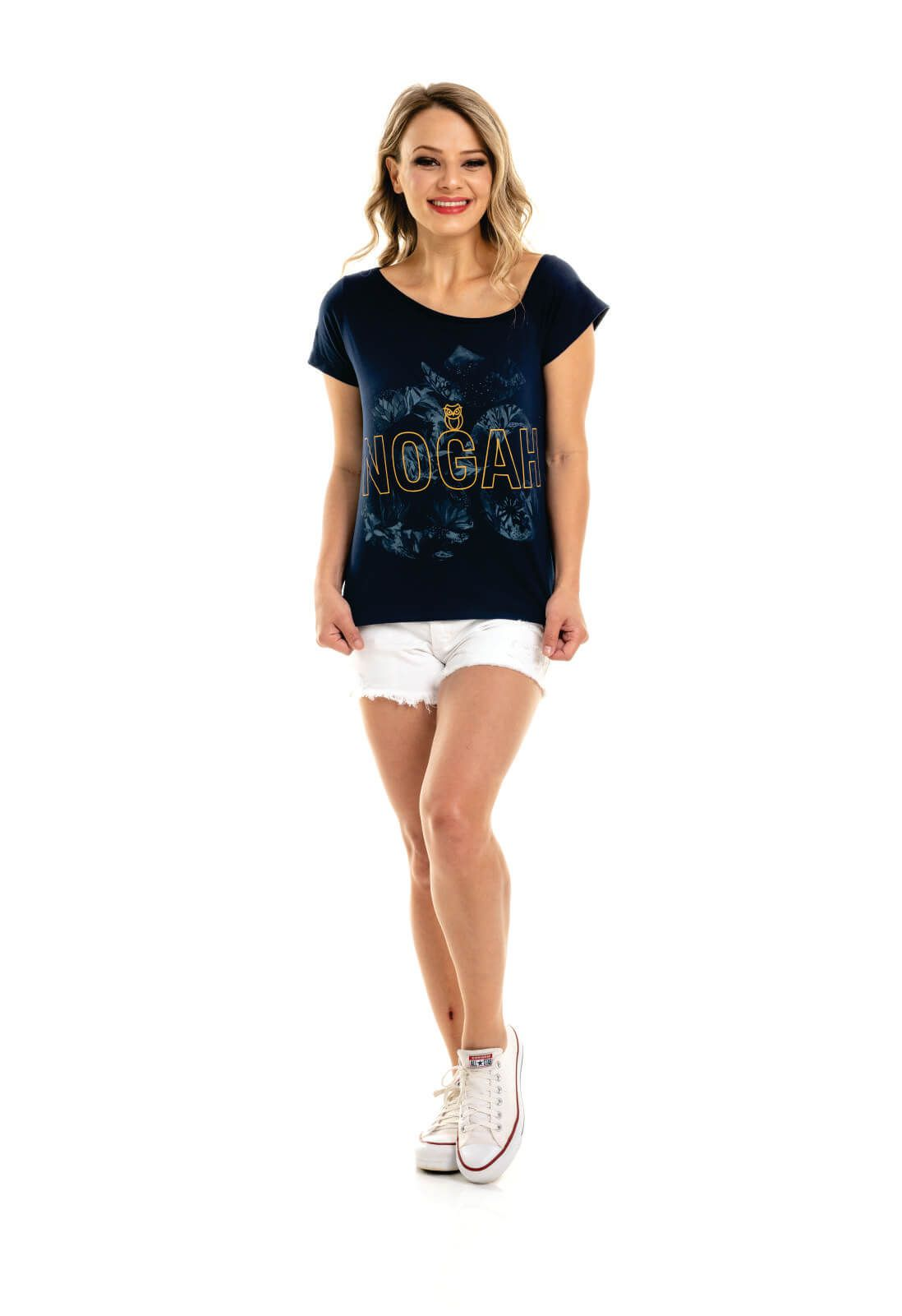T-shirt Nogah Ombro Caído Aum