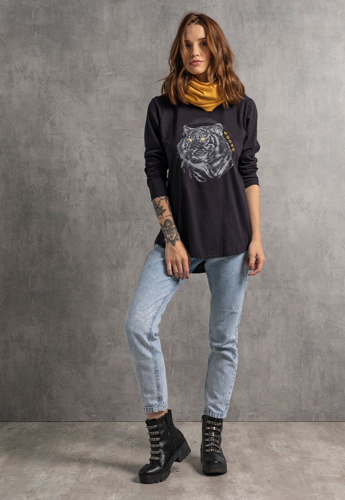 T-shirt Longline Nogah Tiger