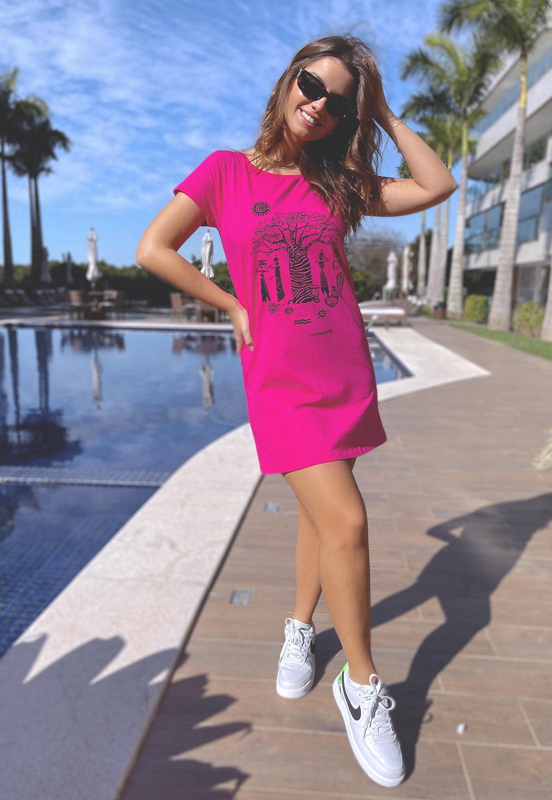 Vestido Nogah African Soul Pink