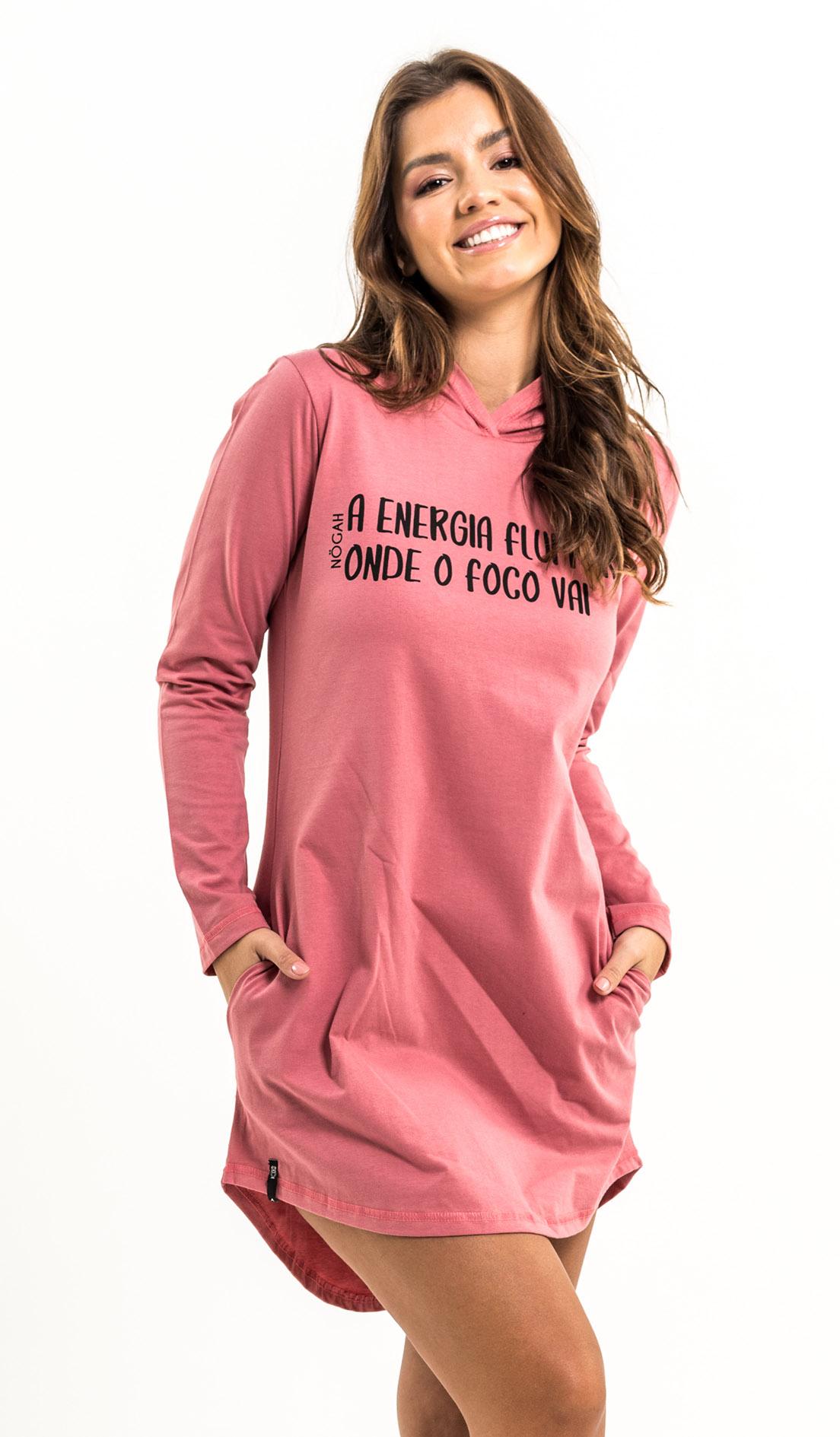 Vestido Nogah Energia Vinho