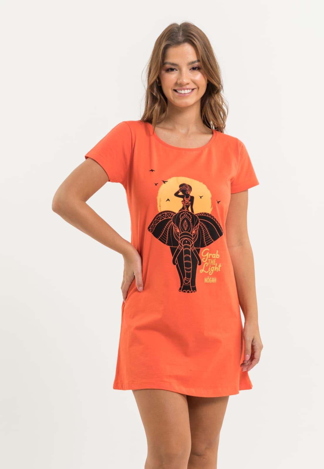 Vestido Nogah Ganesh Laranja