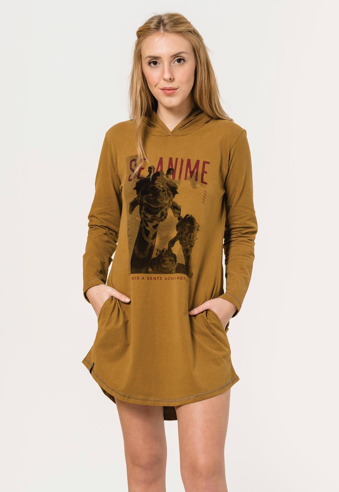 Vestido Nogah Girafa Caramelo