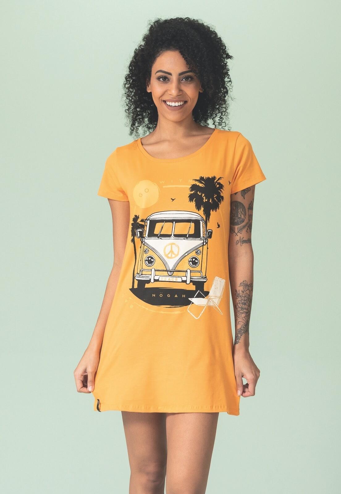 Vestido Nogah Kombi Amarela