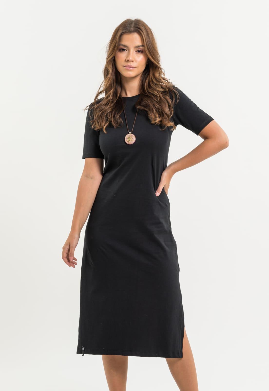Vestido Nogah Midi Preto
