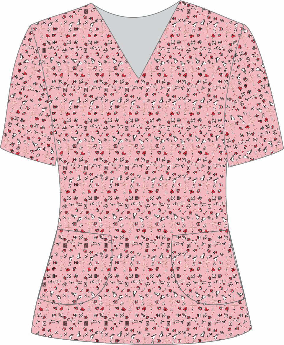 Blusa Pijama Cirúrgico Estampada Plus Size