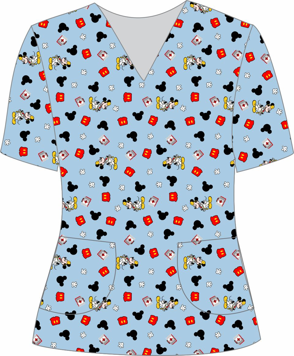 Blusa Pijama Cirúrgico Feminina Estampada