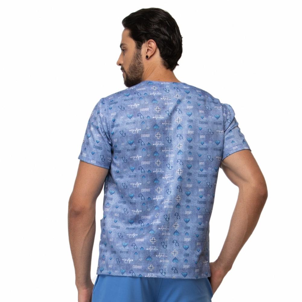 Blusa Scrub Masculina Estampada