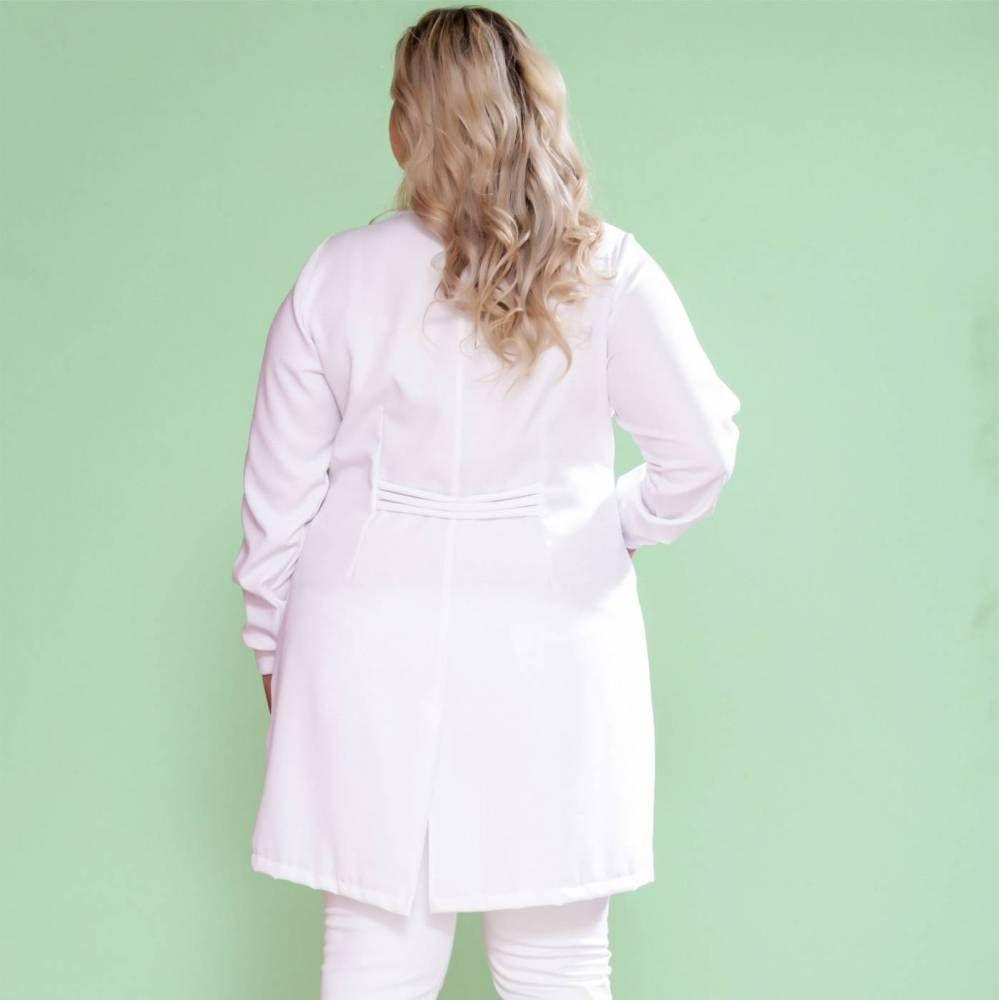 Jaleco Feminino Plus Size Prada com Zíper