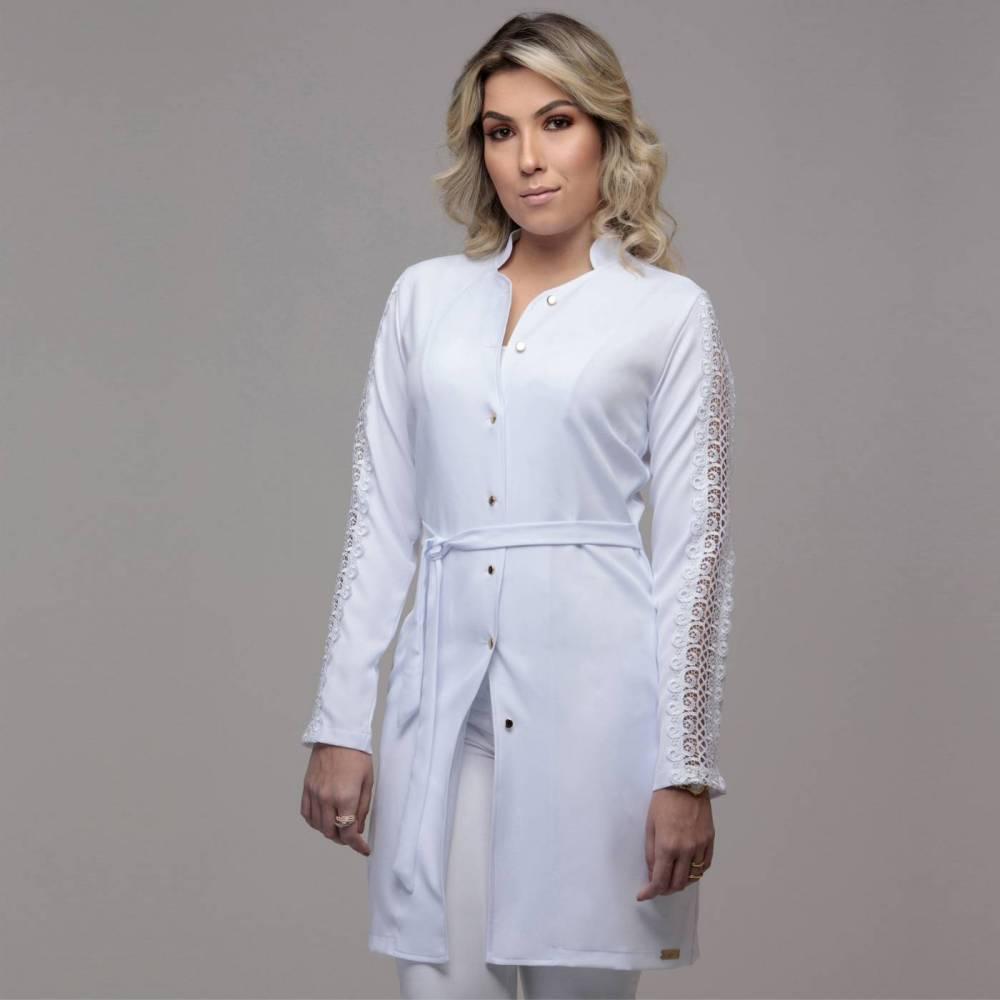 Jaleco Feminino Renda Luxo Premium