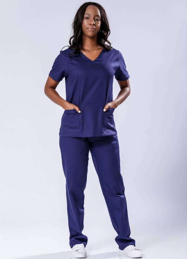 Pijama Cirúrgico Feminino Brim