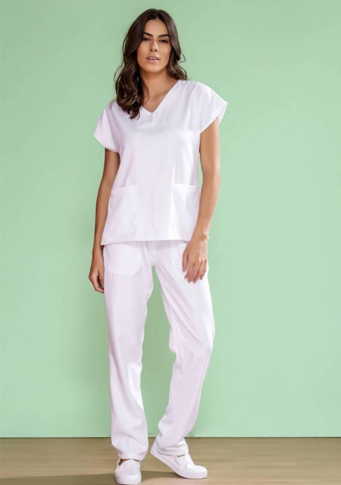 Pijama Cirúrgico Feminino Microfibra