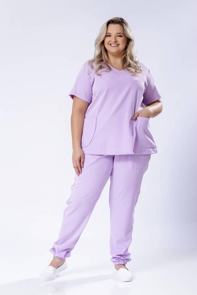Pijama Cirúrgico Feminino PLUS com elastano