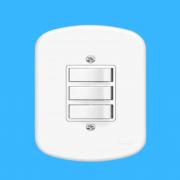 Blanc 3 Seções de Interruptor Simples Com Placa