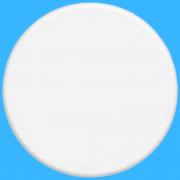 Blanc Placa Redonda Cega 4 Cm