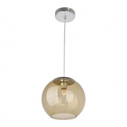 Bronzearte Pendente Globe Acrilico Ambar 25cm