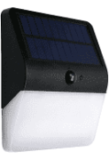 Ecoforce Arandela Solar Com Sensor Presenca 400 Lumens 3000k