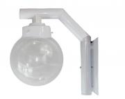 Ideal Arandela Aço Fosfatizado Com Globo Branco 210