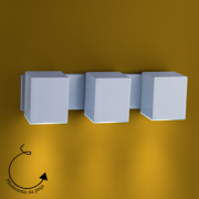 Ideal Arandela Branca Alumínio Articulada 3 X GU10 A-93