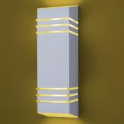 Ideal Arandela Branca Alumínio de 2 Lâmpadas E-27 987