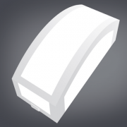 Ideal Arandela Policarbonato Branca 4237 de 1 Lâmpada E-27