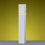 Ideal Poste Branco em Alumínio 50cm X 3 Polegadas PA9050